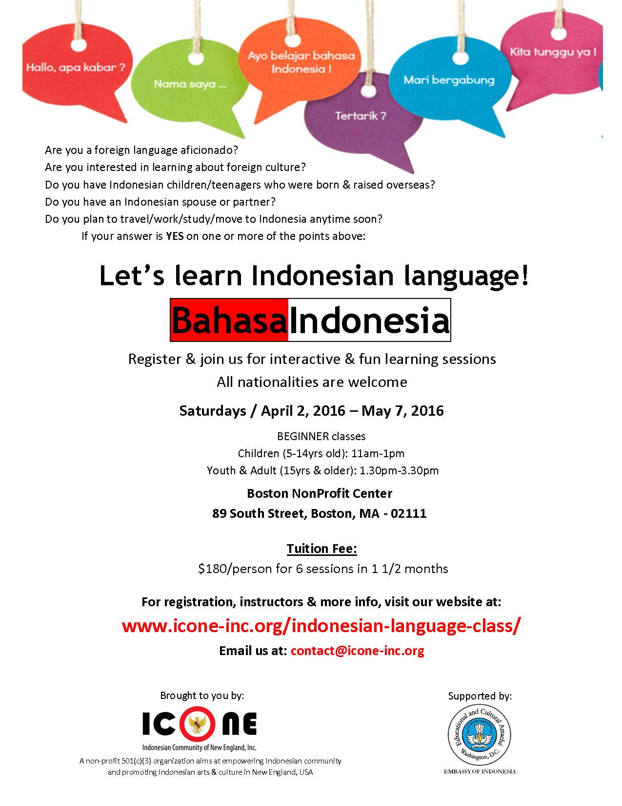 Indonesian Language Classes [04/02/16]
