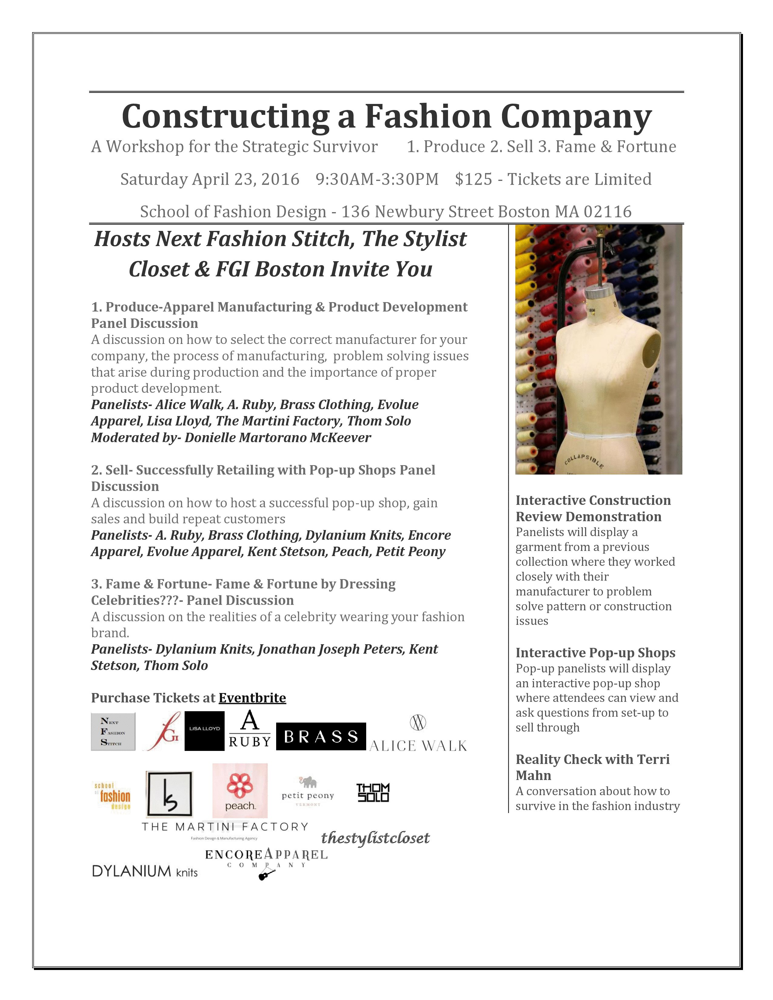 Constructing A Fashion Company A Workshop For The Strategic Survivor 04 23 16