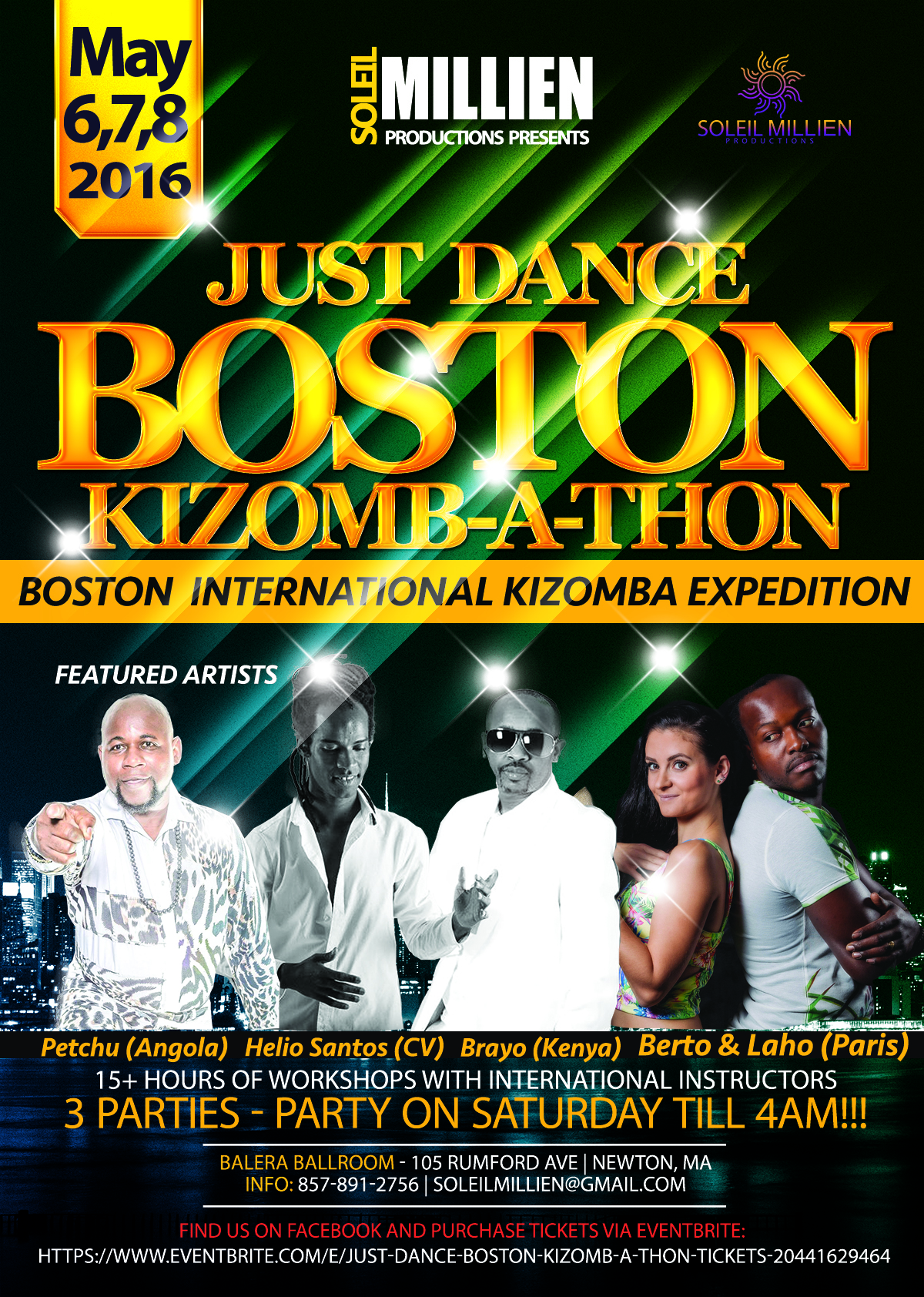 Just Dance Boston Kizombathon 05 06 16
