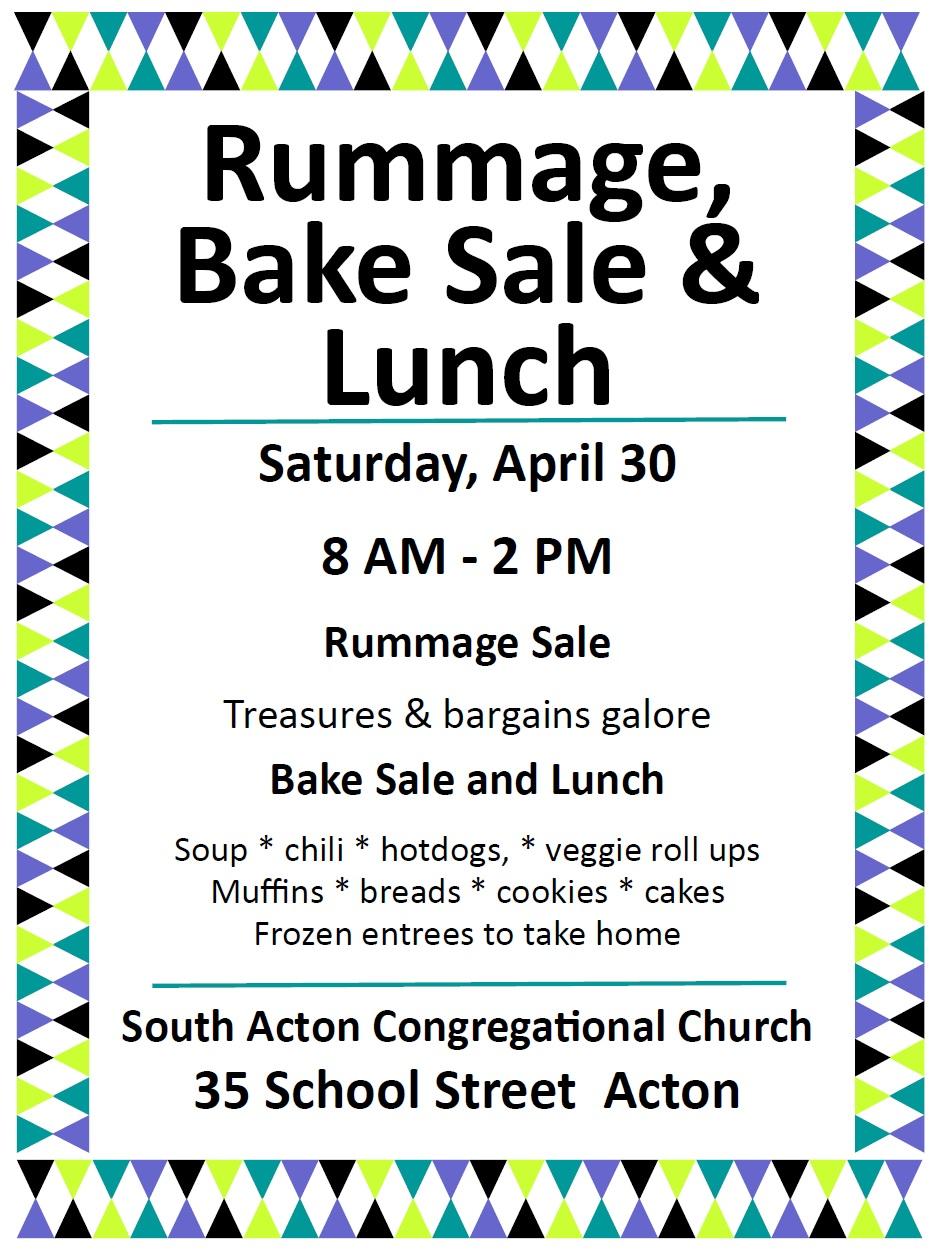 rummage sale flyers