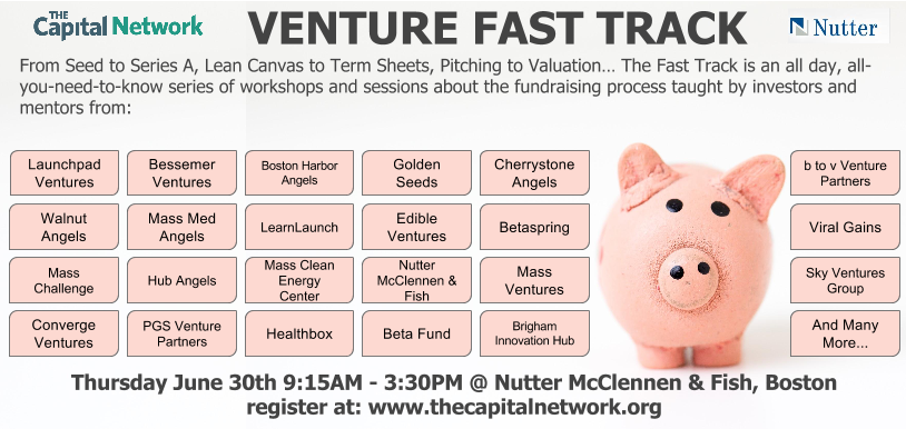 Venture fast track fundraising bootcamp for entrepreneurs for Nutter mcclennen fish llp