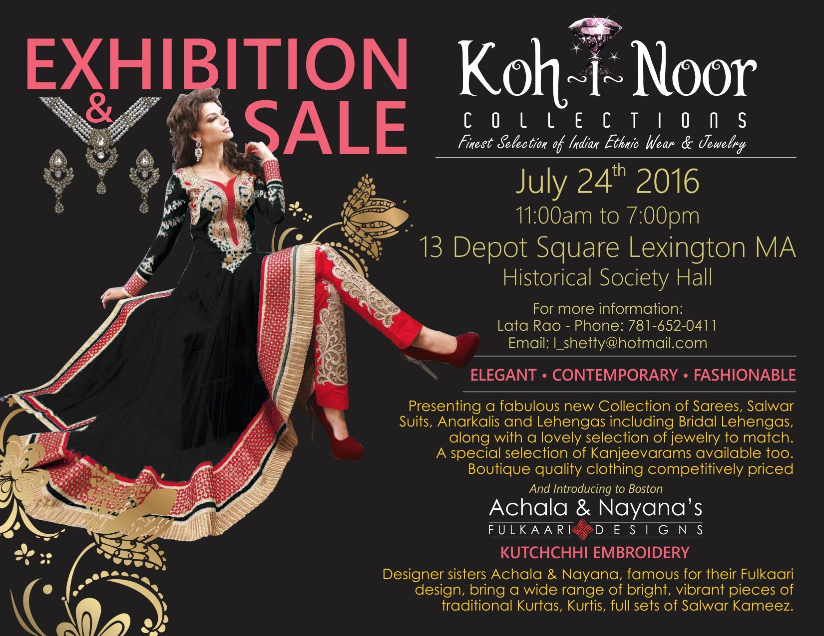 Exhibition & Sale of Ethnic Indian Clothes & Jewelry [07/24/16]
