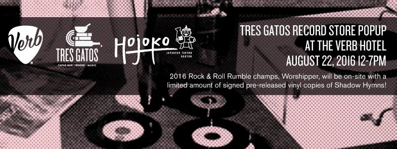 Tres Gatos Record Store Pop Up At The Verb Hotel 08 22 16