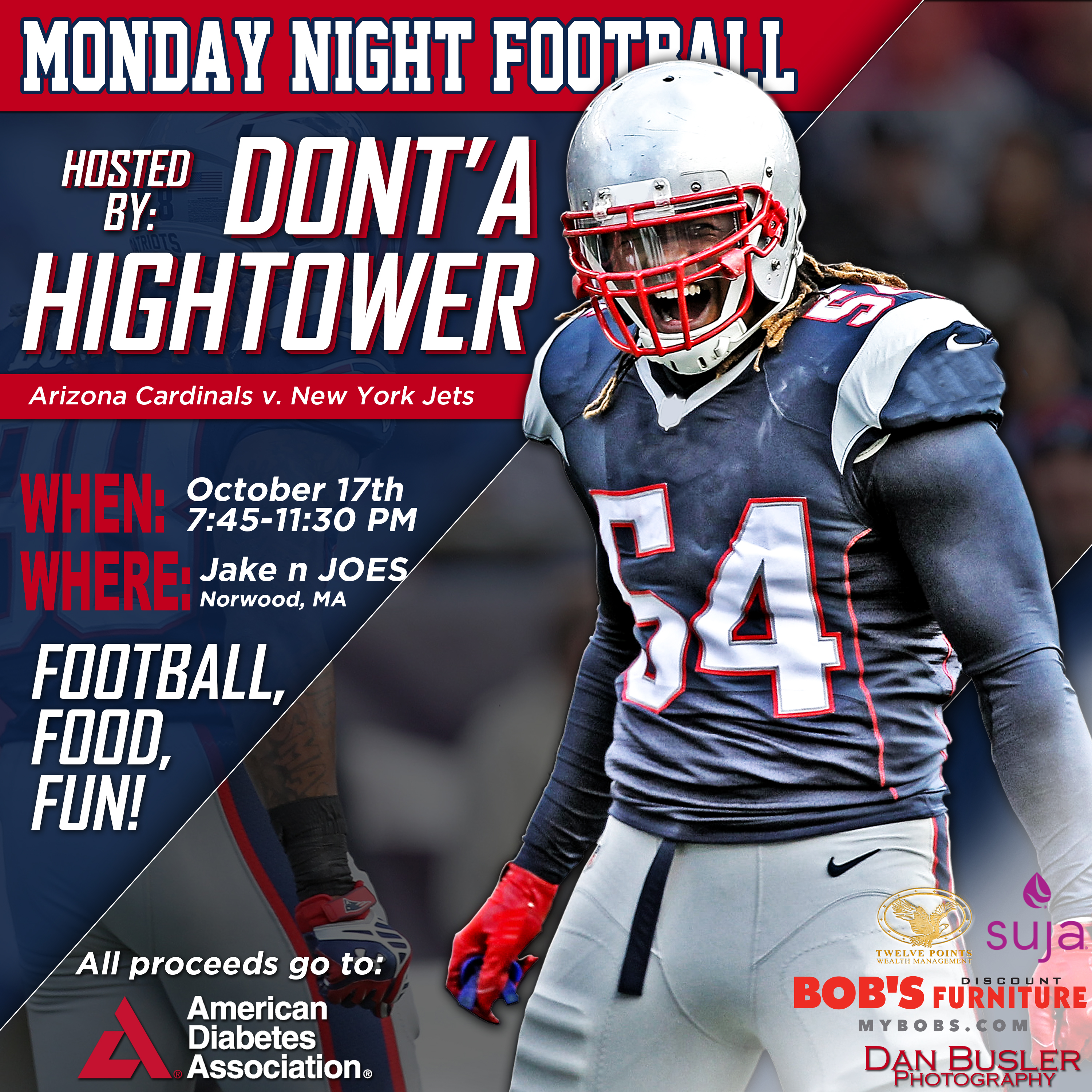 2nd Annual Monday Night Football Watch Party Hosted by New England