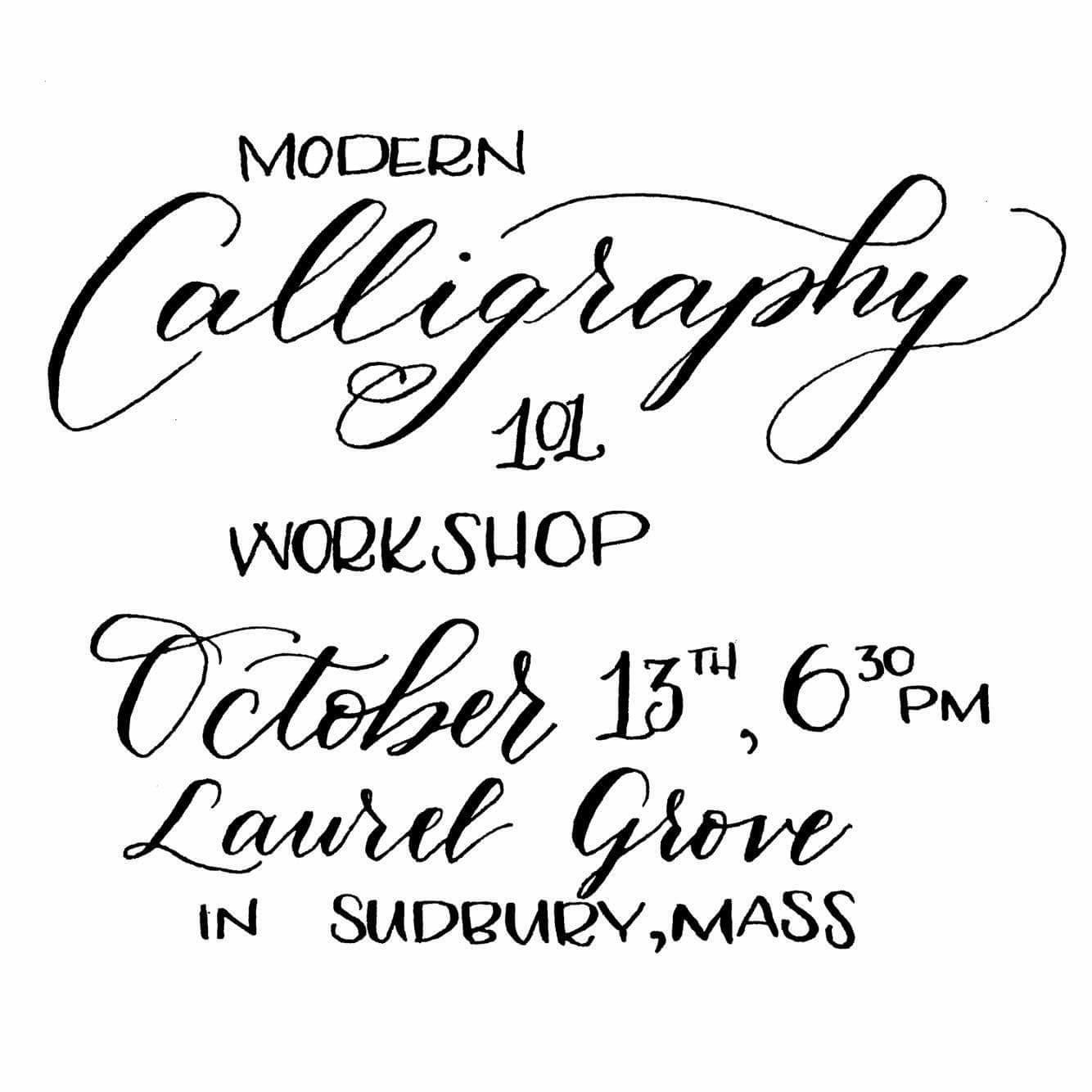 Modern Calligraphy Class 10 13 16