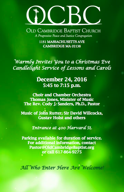 Candlelight Service Of Lessons And Carols 12 24 16