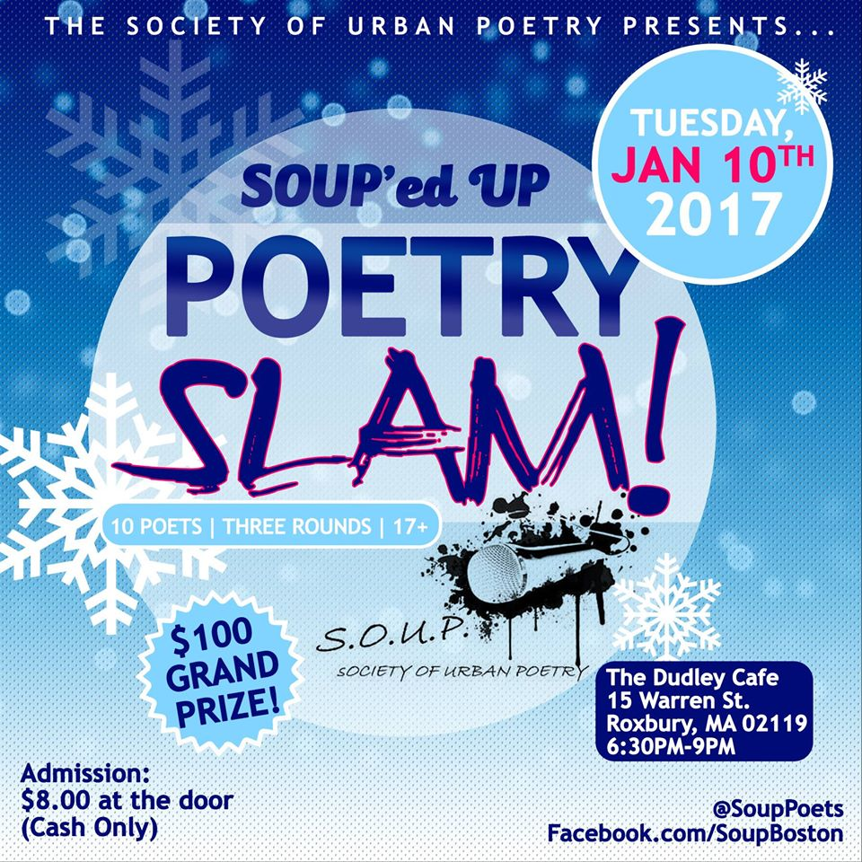 Soup Ed Up Poetry Slam At Dudley Cafe 01 10 17
