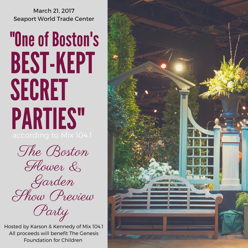 Boston flower garden show preview party performance by american idol winner nick fradiani for Boston flower and garden show 2017