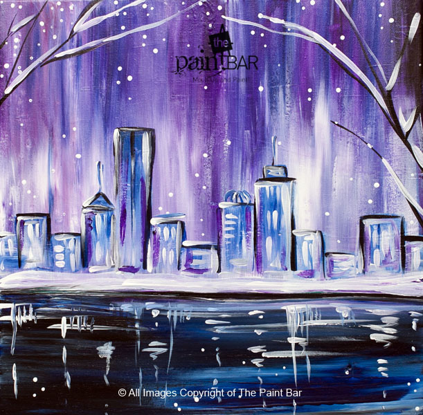 Love purple love boston then you will love this skyline for Paint bar newton
