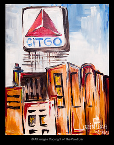 The paint bar citgo sign 04 09 17 for Paint bar newton