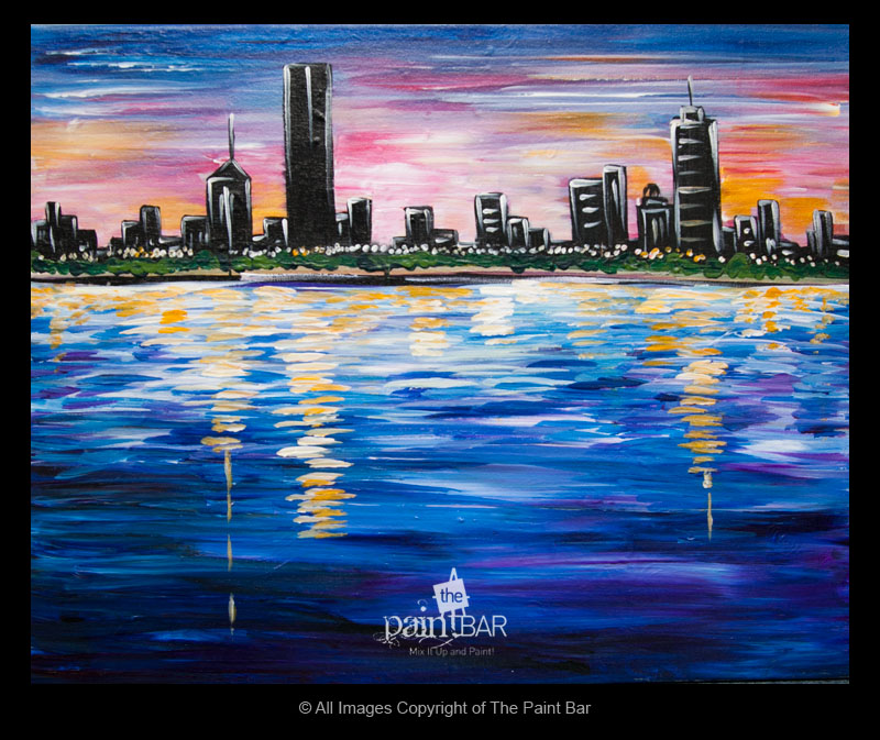 The paint bar boston sunrise 04 15 17 for Paint bar newton