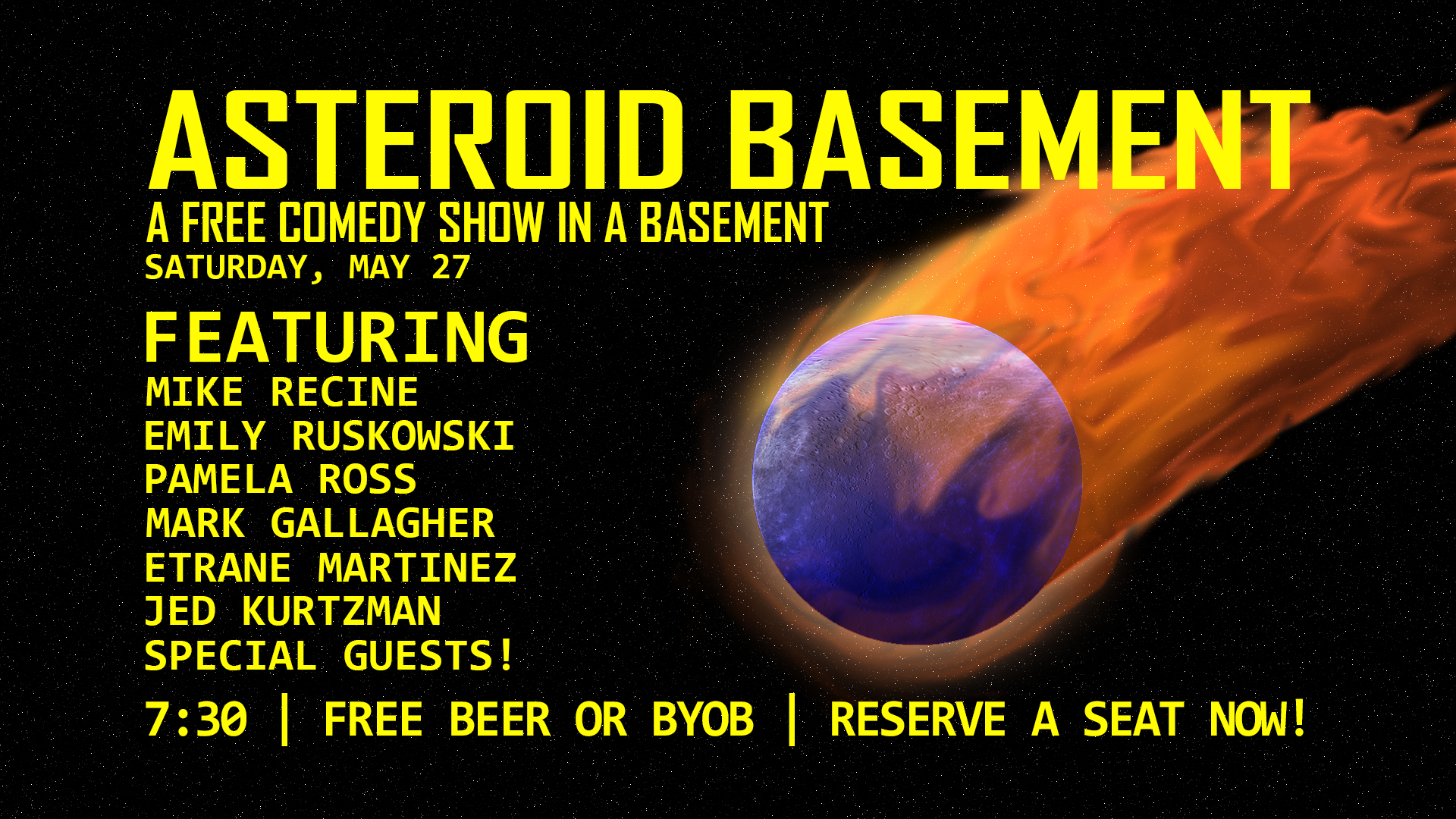 asteroid basement a free comedy show in a basement 05 27 17
