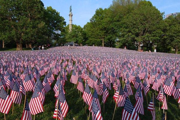 Memorial Day Garden Of Flags On Boston Common 05 24 17