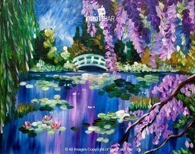 The paint bar monet purple lilacs 05 30 17 for Paint bar newton