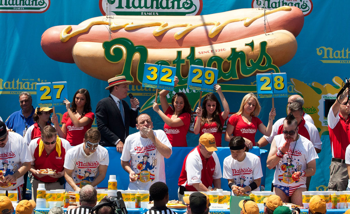 Th Of July Hot Dog Eating Contest Video