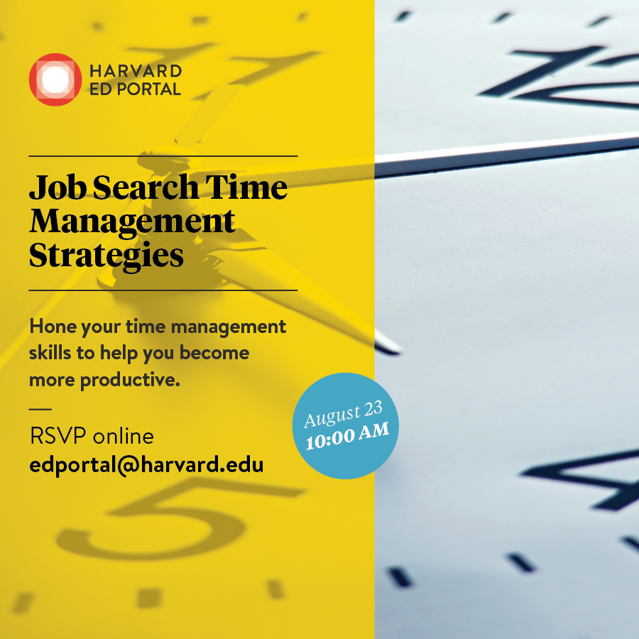 Free Resources For Job Seekers: Time Management For Job Seekers [08/23/17]