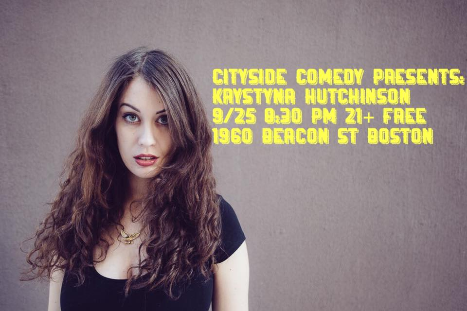 Cityside Comedy Presents Krystyna Hutchinson Free 8