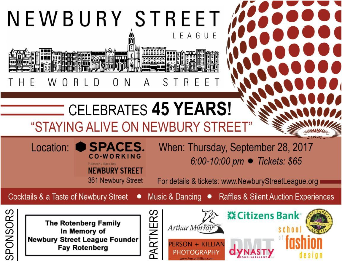 Newbury Street League Celebrates 45 Years 09 28 17