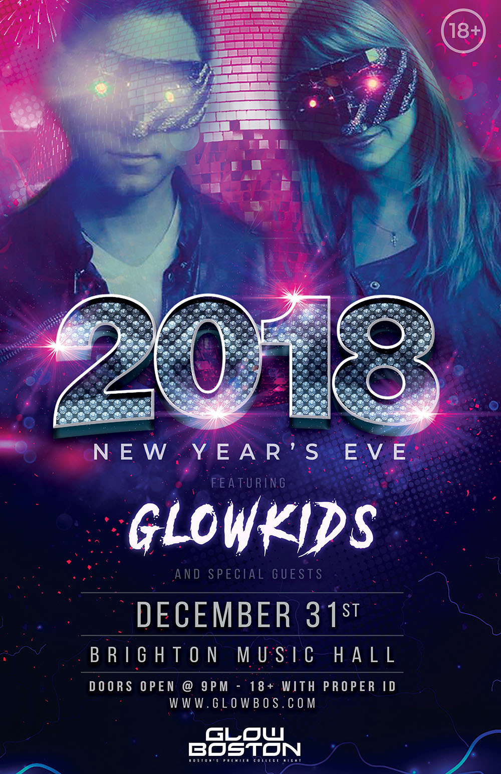 Glow Boston New Year's Eve 2018 12/31/17