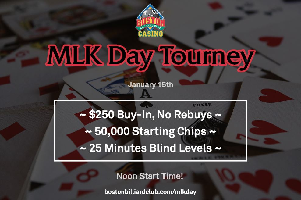 Mlk Jr Day Poker Tournament 01 15 18
