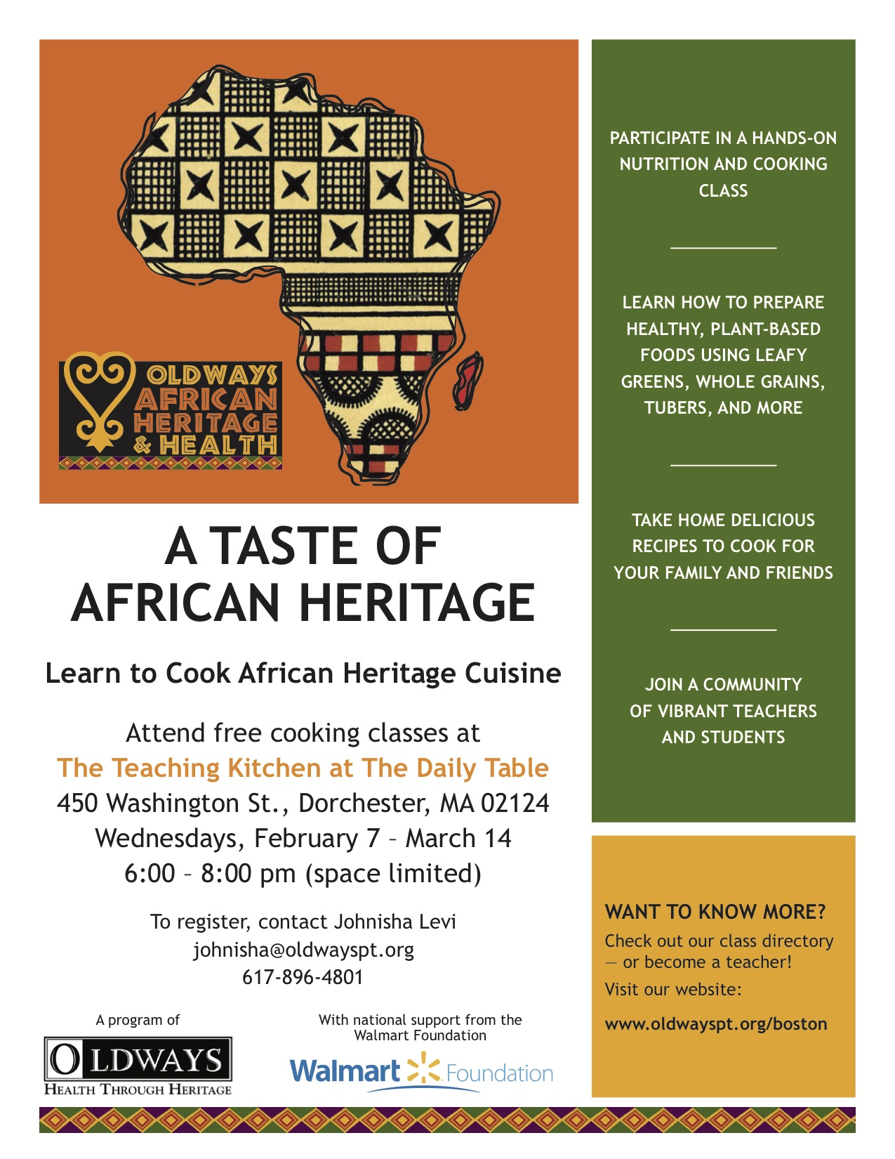 Learn to cook african heritage cuisine 02 14 18 for African heritage cuisine