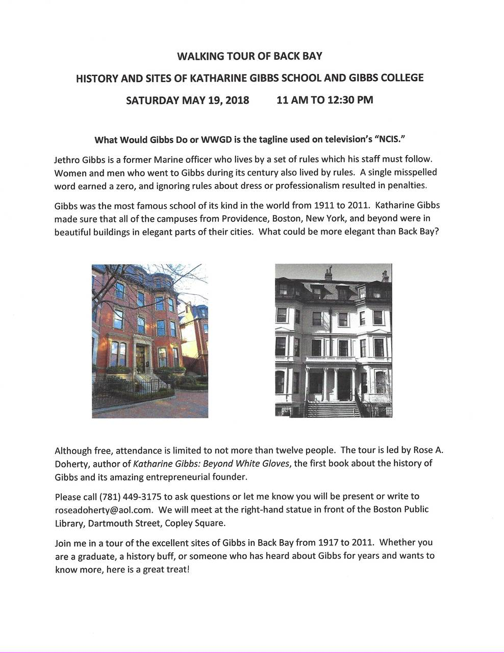 Walking Tour of Back Bay: History and Sites of Katharine