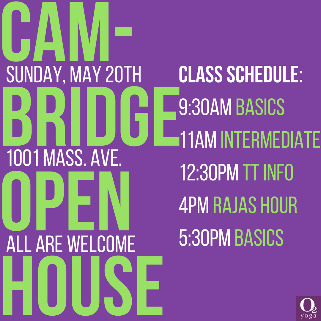 Open House O2 Yoga Cambridge 05 20 18