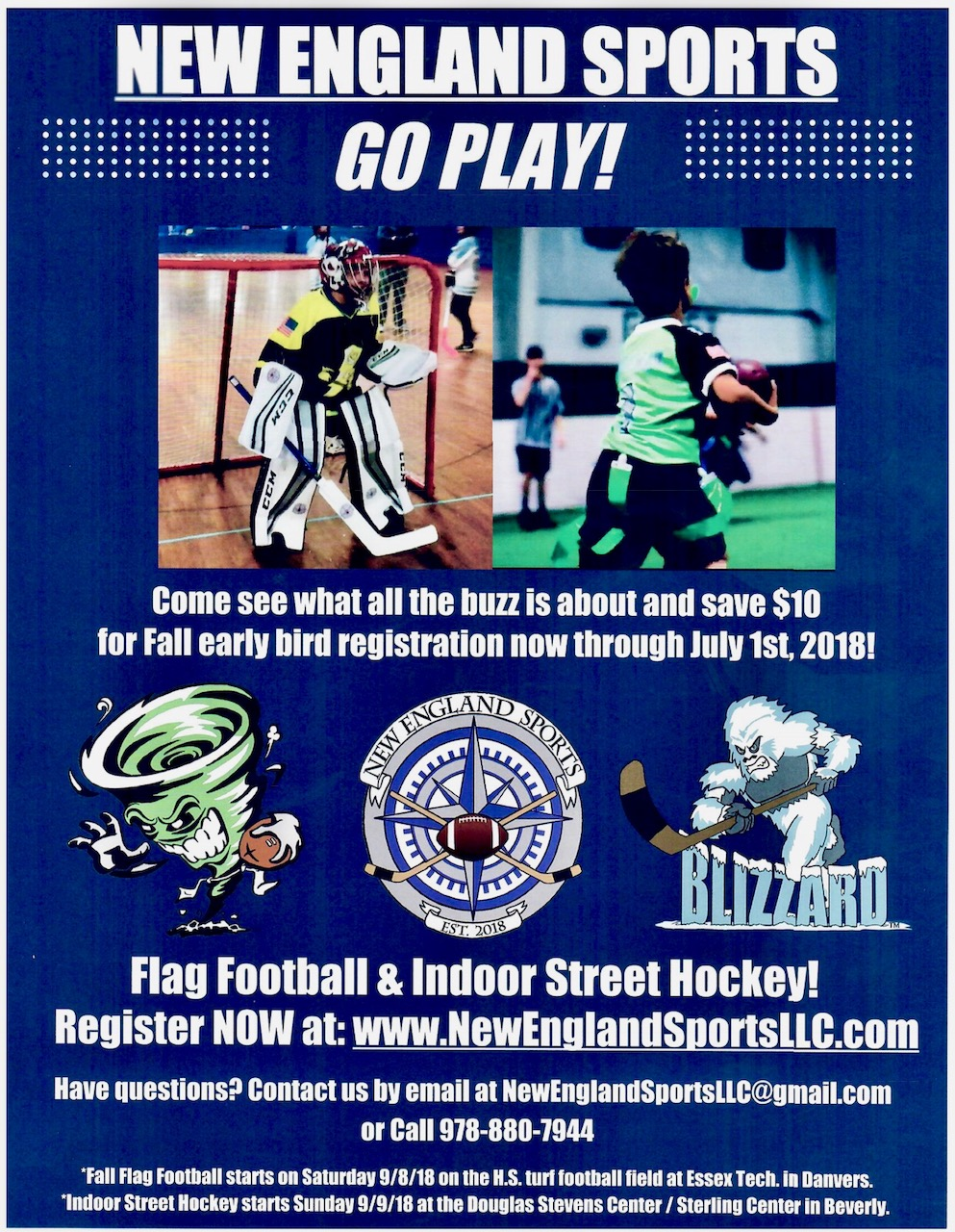New England Sports Llc Launches New Sports League In Areas North Of