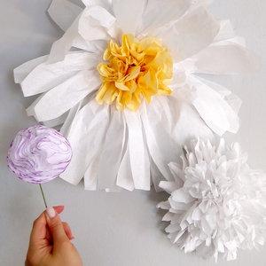 Kids Crafternoon Tissue Paper Flowers 07 23 18