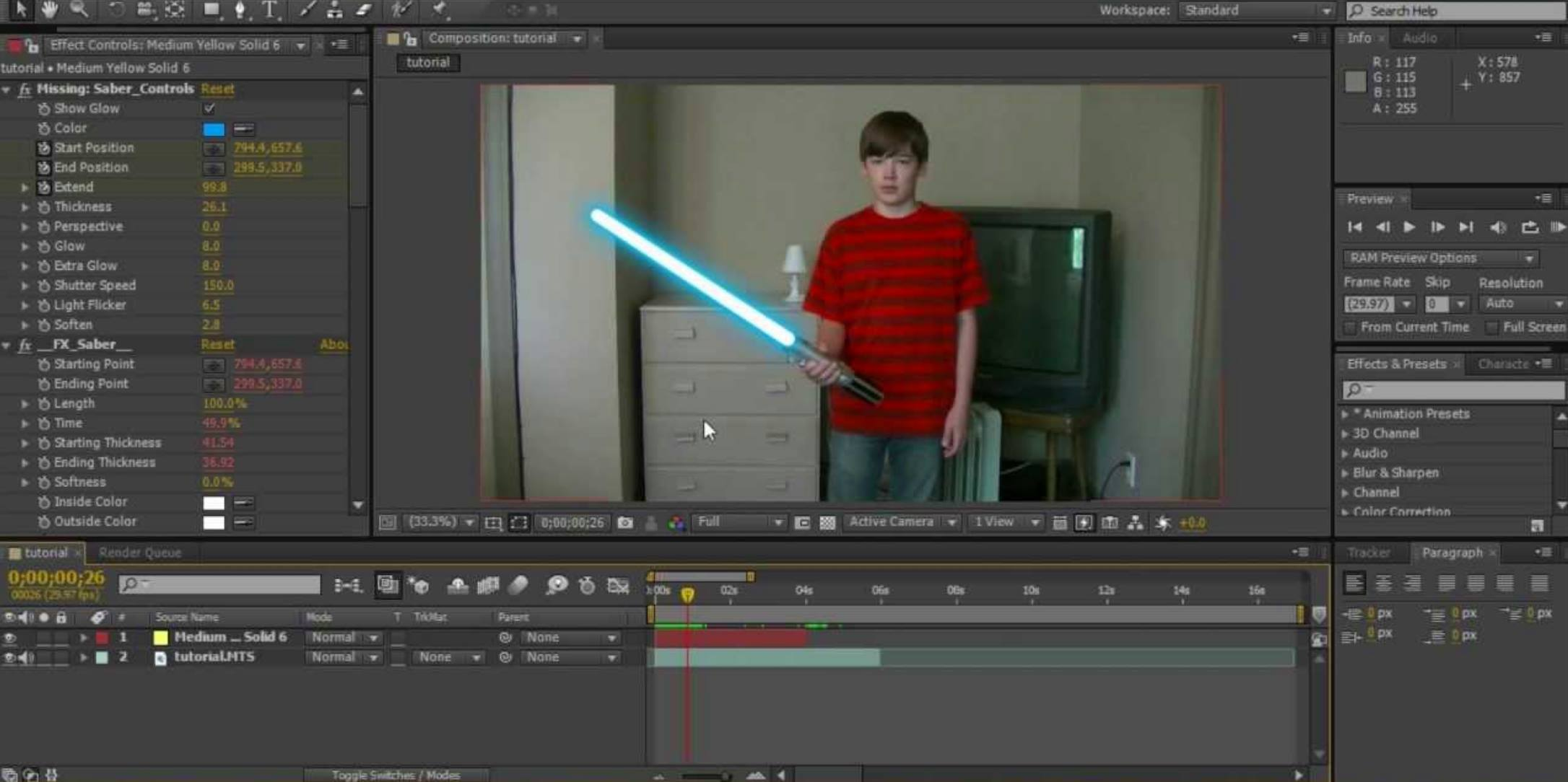 Visual effects for zoom