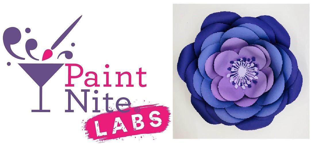 Paint nite labs paper flower 102318 paint nite labs paper flower mightylinksfo