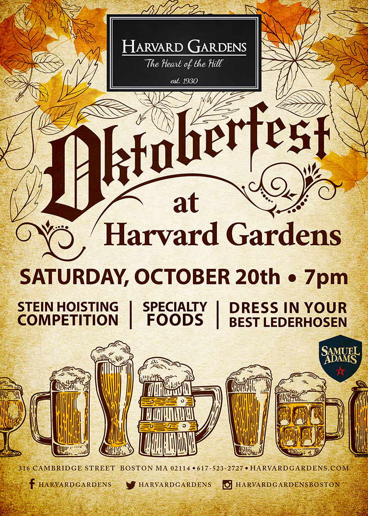 Oktoberfest At Harvard Gardens 10 20 18