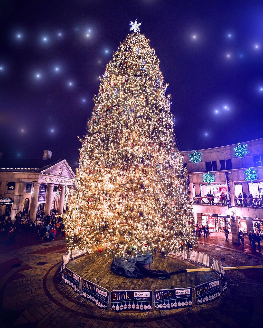 Boston Christmas Lights.Faneuil Hall Tree Lighting Spectacular 11 26 19