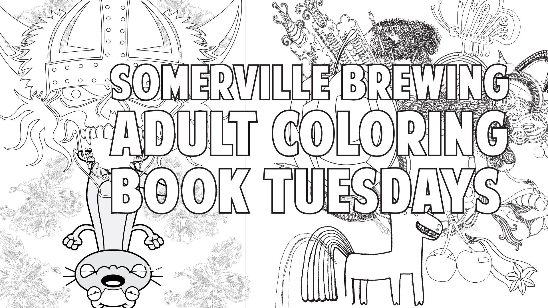 Adult Coloring Book Night at Somerville Brewing Company [08/20/19]