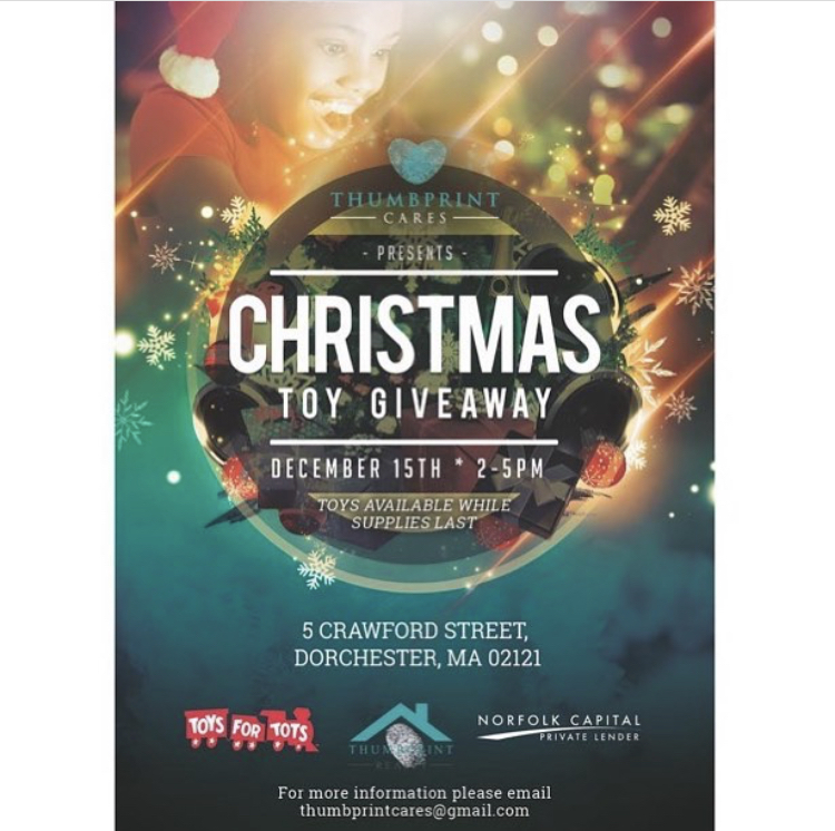Christmas Giveaway Flyer.Thumbprint Cares Christmas Toy Giveaway 12 15 18