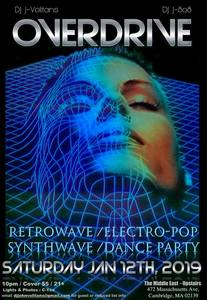 Overdrive: Retrowave / Electropop / Synthwave Dance Party [01/12/19]