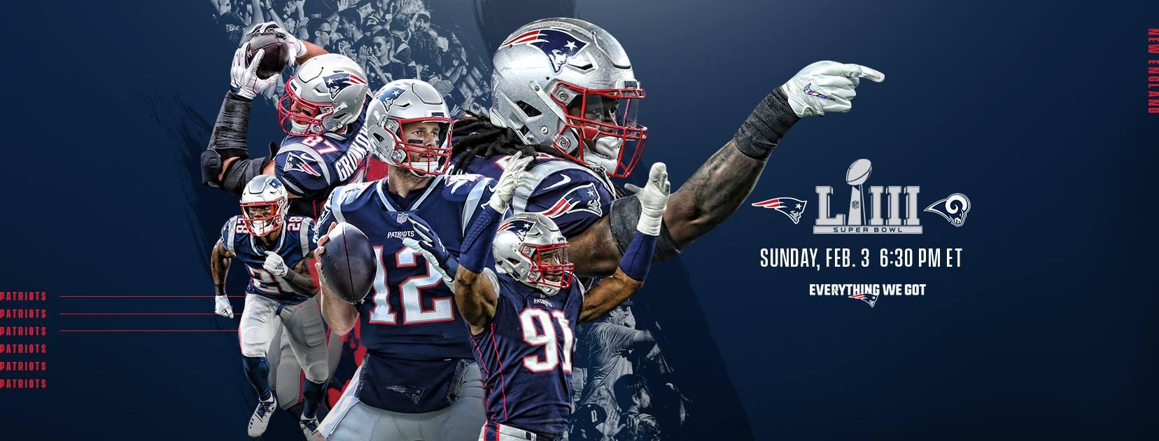 b2045412 Super Bowl LIII: New England Patriots vs. Los Angeles Rams [02/03/19]