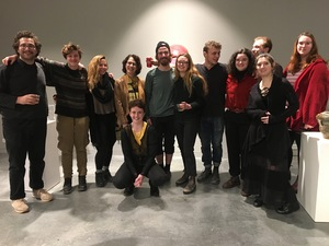 Ceramic-students-at-exhibit-opening-lunder-raizes-gallery