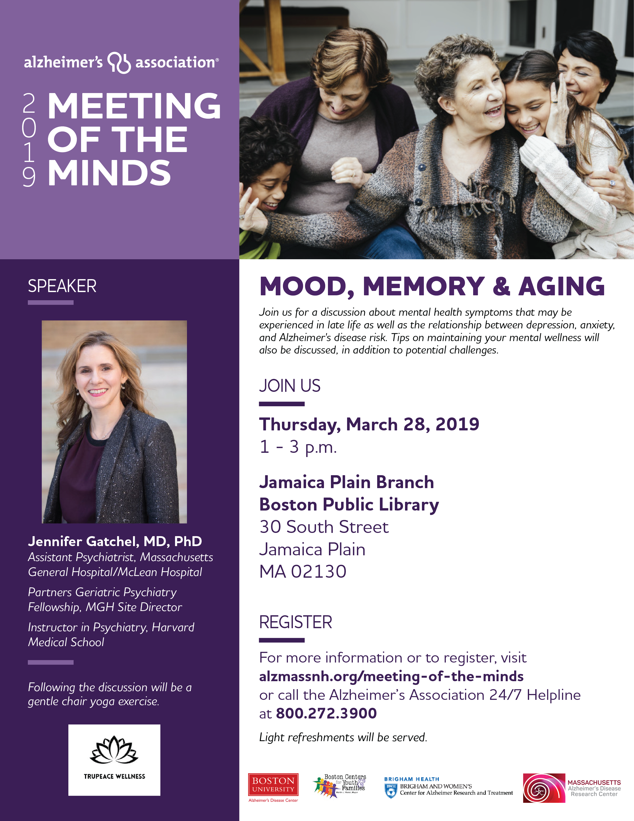 Alzheimer's Association Meeting of the Minds: Mood, Memory