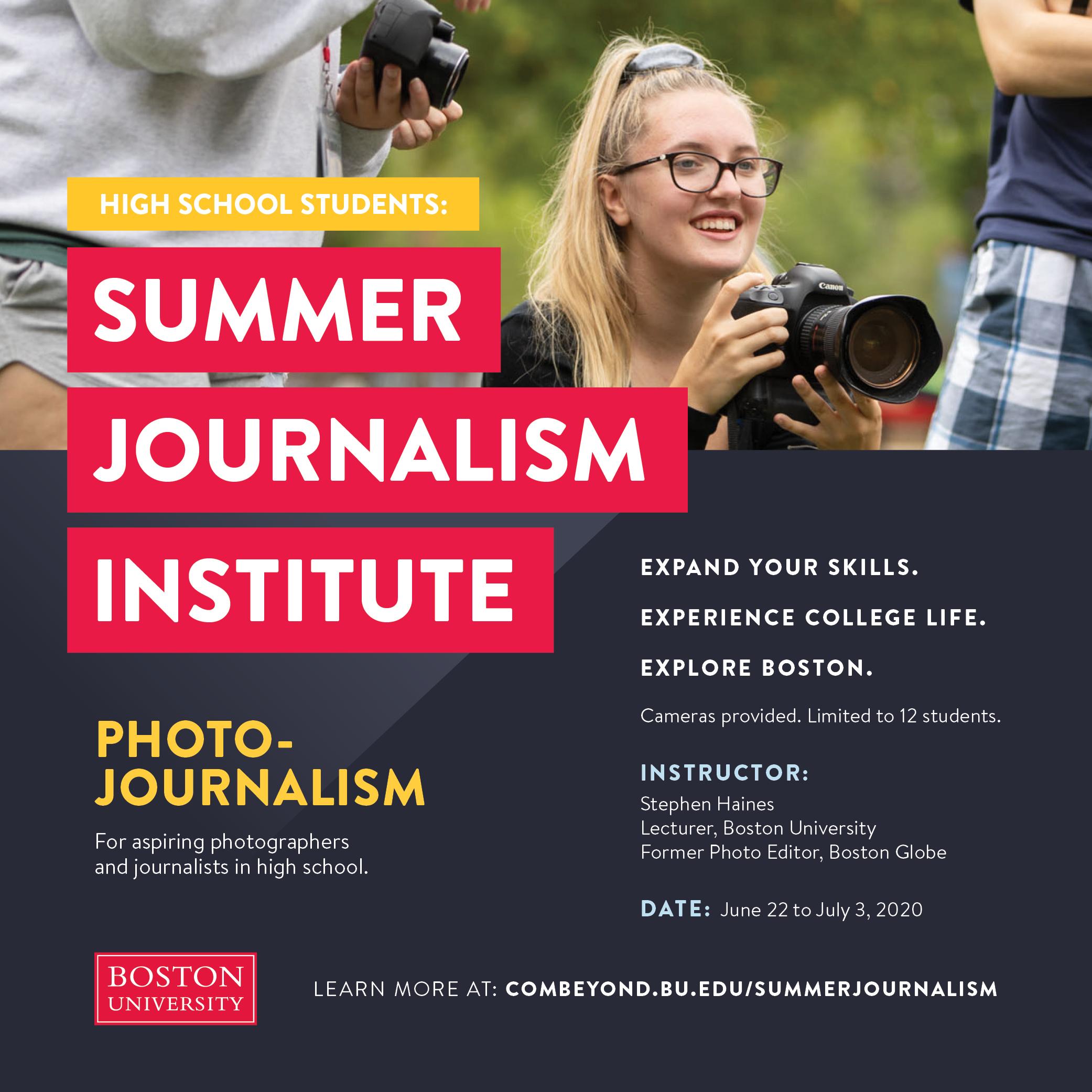Summer Journalism Programs High School Students