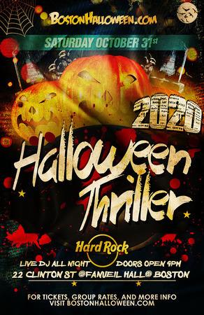 Boston Halloween 2020 6th Annual Hard Rock Boston Halloween Thriller Party   October 31
