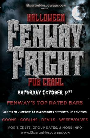 October 31 2020 Halloween Events Boston Fenway Fright Night Halloween Bar Crawl   October 31, 2020