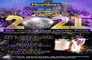 New Year's Eve All Access Bar Crawl Pass Boston, Faneuil Hall And Fenway 2021 [12/31/20]