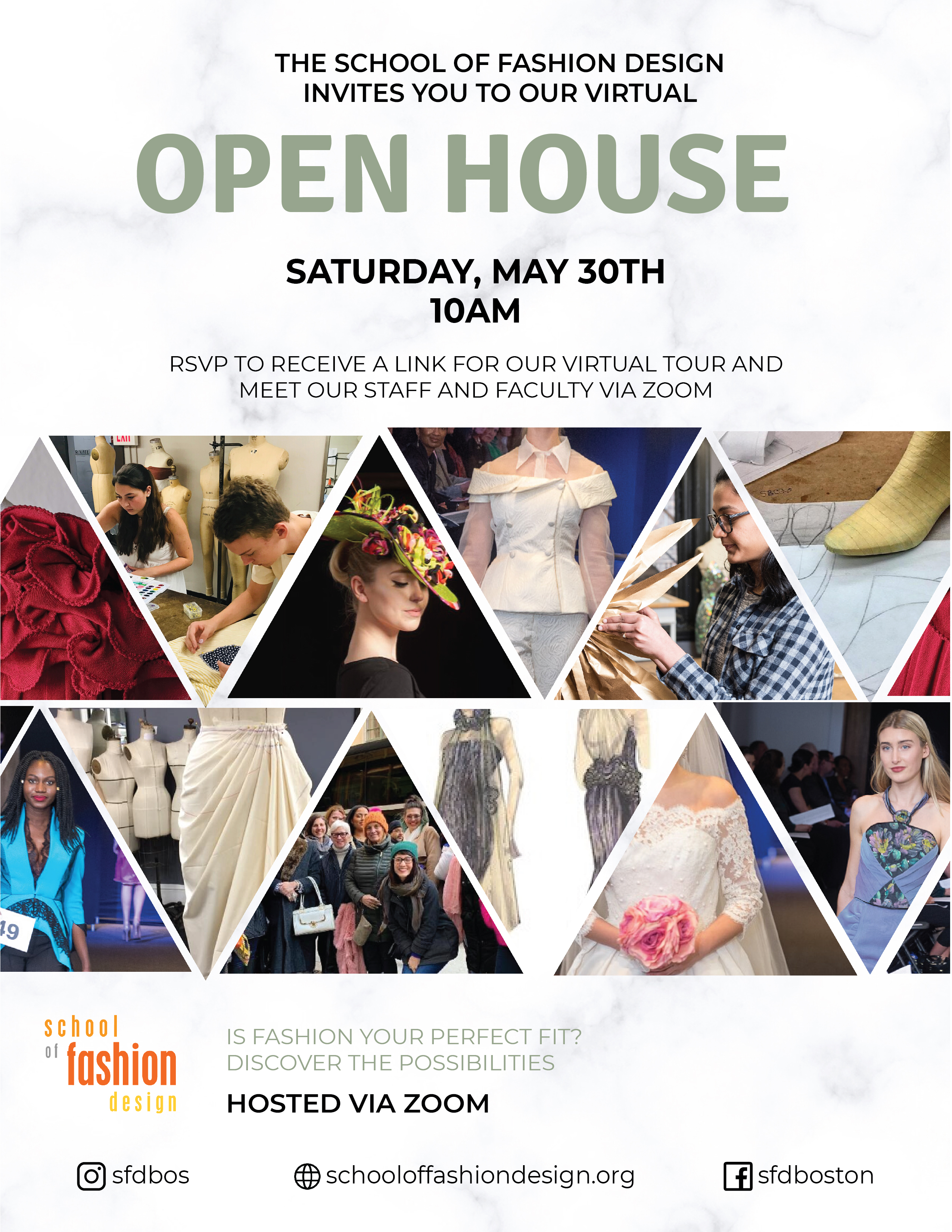 School Of Fashion Design Virtual Open House 05 30 20