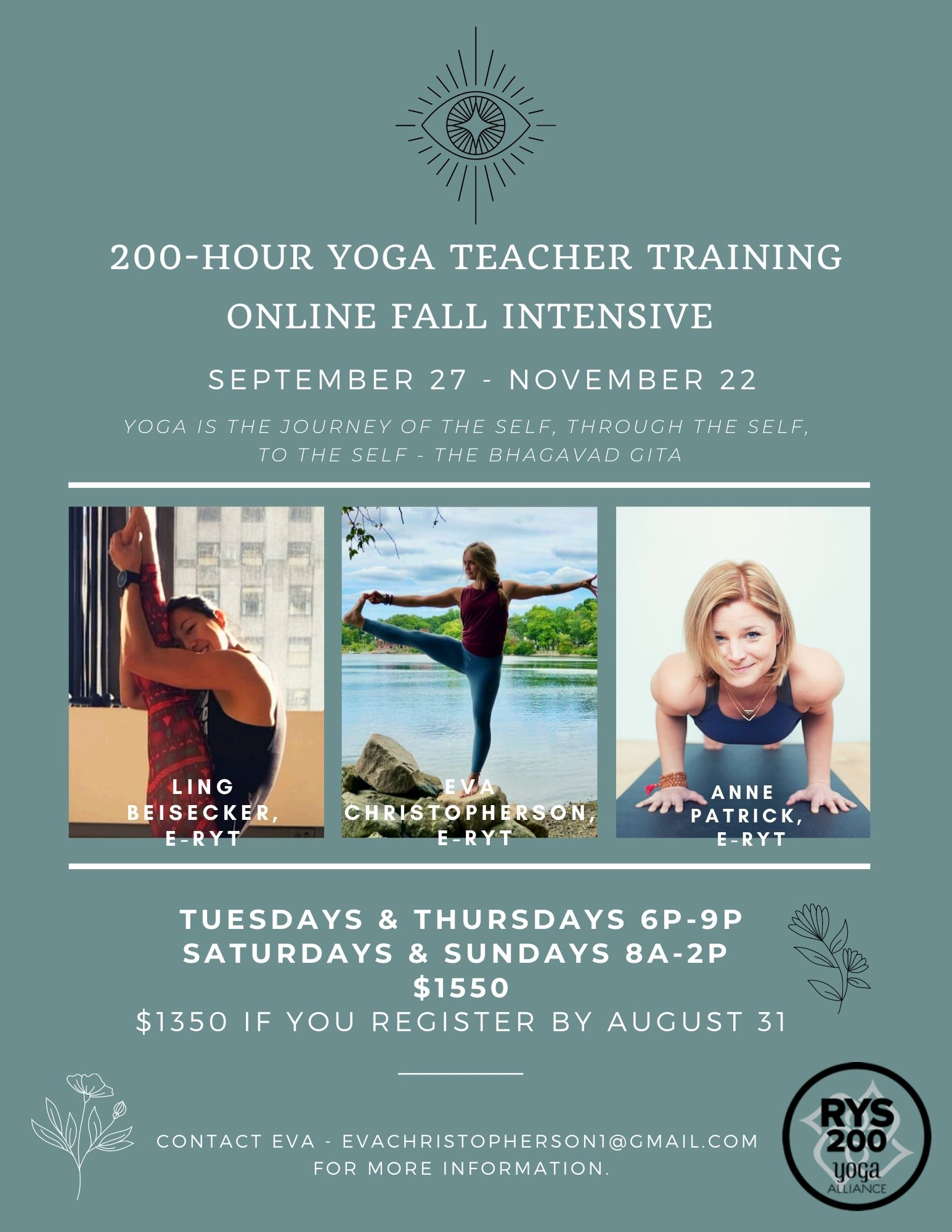 Free Yoga Class And Q A For 200 Hour Online Yoga Teacher Training Fall Intensive 08 28 20
